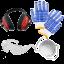 Kit de proteccion gafas orejeras y mascarilla de serie