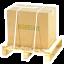 Envio seguro caja fijada sobre pale de madera