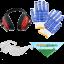 Kit de proteccion gafas guantes orejeras y bandana agrieuro de serie